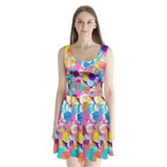 Anemones Split Back Mini Dress  by DanaeStudio