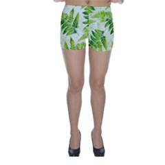 Fern Leaves Skinny Shorts by DanaeStudio