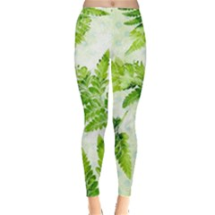 Fern Leaves Leggings  by DanaeStudio