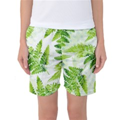 Fern Leaves Women s Basketball Shorts by DanaeStudio