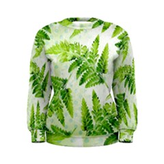 Fern Leaves Women s Sweatshirt by DanaeStudio