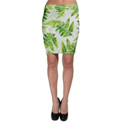 Fern Leaves Bodycon Skirt by DanaeStudio