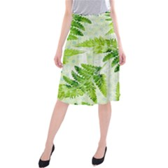 Fern Leaves Midi Beach Skirt by DanaeStudio