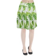 Fern Leaves Pleated Skirt by DanaeStudio