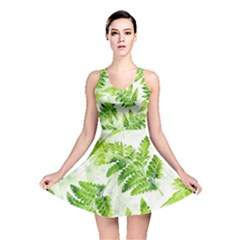 Fern Leaves Reversible Skater Dress by DanaeStudio