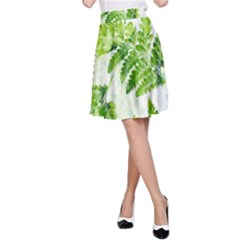 Fern Leaves A-line Skirt by DanaeStudio