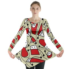 Playful Abstraction Long Sleeve Tunic  by Valentinaart