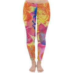 Pop Art Roses Winter Leggings