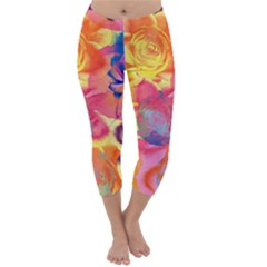 Pop Art Roses Capri Winter Leggings