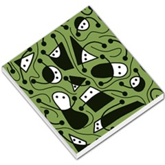 Playful Abstract Art   Green Small Memo Pads by Valentinaart