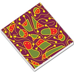 Playful Decorative Abstract Art Small Memo Pads