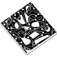 Playful Abstract Art   Black And White Small Memo Pads by Valentinaart
