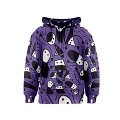 Playful Abstract Art   Purple Kids  Zipper Hoodie by Valentinaart