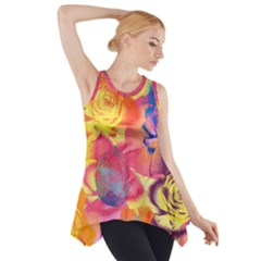 Pop Art Roses Side Drop Tank Tunic