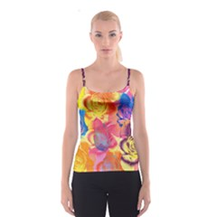 Pop Art Roses Spaghetti Strap Top