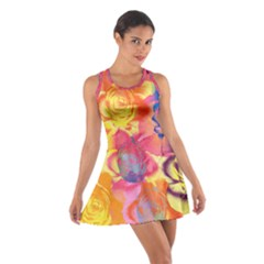Pop Art Roses Cotton Racerback Dress