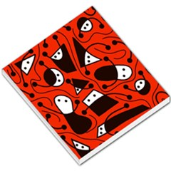 Playful Abstract Art   Red Small Memo Pads by Valentinaart