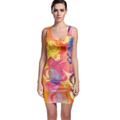 Pop Art Roses Bodycon Dress