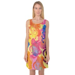 Pop Art Roses Sleeveless Satin Nightdress