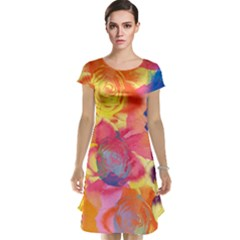Pop Art Roses Cap Sleeve Nightdress