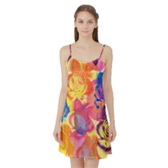 Pop Art Roses Satin Night Slip