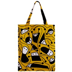 Playful Abstract Art   Yellow Classic Tote Bag by Valentinaart