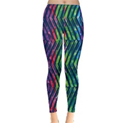 Colorful Lines Leggings  by DanaeStudio