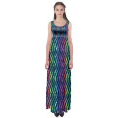 Colorful Lines Empire Waist Maxi Dress by DanaeStudio