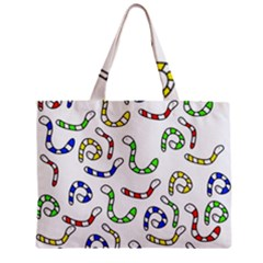 Colorful Worms  Zipper Mini Tote Bag by Valentinaart