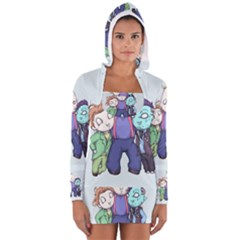 Fred, Sloth, Maurice  Women s Long Sleeve Hooded T Shirt by lvbart