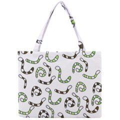 Green Worms Mini Tote Bag by Valentinaart