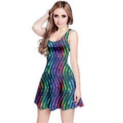 Colorful Lines Reversible Sleeveless Dress