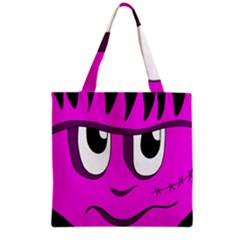 Halloween   Pink Frankenstein Grocery Tote Bag by Valentinaart