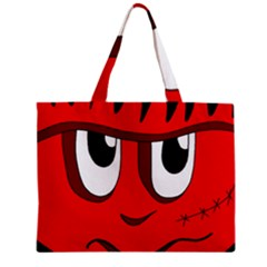 Halloween Frankenstein   Red Zipper Mini Tote Bag by Valentinaart