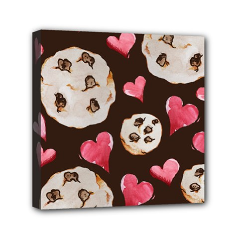 Chocolate Chip Cookies Mini Canvas 6  X 6  by BubbSnugg