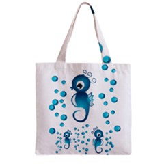 Seahorsesb Grocery Tote Bag by vanessagf