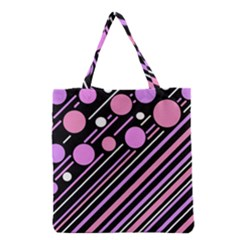 Purple Transformation Grocery Tote Bag by Valentinaart