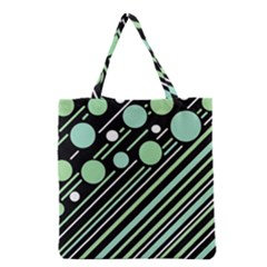 Green Transformaton Grocery Tote Bag by Valentinaart
