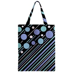 Blue Transformation Zipper Classic Tote Bag by Valentinaart