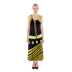Boat - Yellow Sleeveless Maxi Dress by Valentinaart