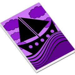 Boat   Purple Large Memo Pads by Valentinaart