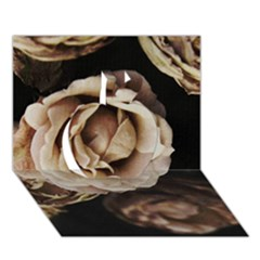 Roses Flowers Apple 3d Greeting Card (7x5) by vanessagf