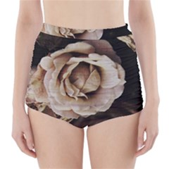 Roses Flowers High-waisted Bikini Bottoms by vanessagf