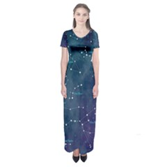 Constellations Short Sleeve Maxi Dress by DanaeStudio