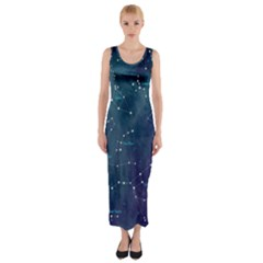 Constellations Fitted Maxi Dress by DanaeStudio