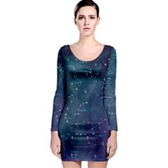 Constellations Long Sleeve Bodycon Dress by DanaeStudio