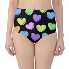 Valentine s Hearts High Waist Bikini Bottoms by BubbSnugg