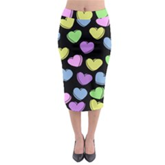 Valentine s Hearts Midi Pencil Skirt