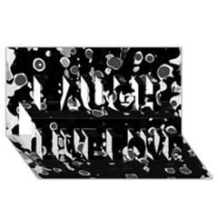 Old Love Laugh Live Love 3d Greeting Card (8x4)