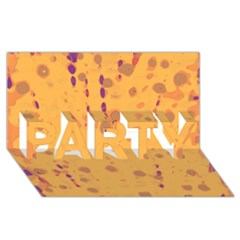 Orange Decor Party 3d Greeting Card (8x4)